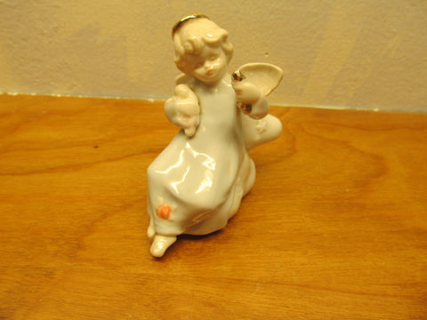 VINTAGE MINIATURE RUSS CERAMIC ANGEL # 15472 - Andres James Vintage Boutique - 1