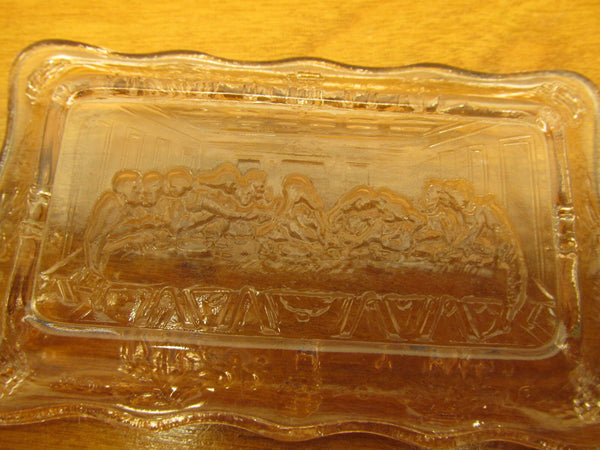 VINTAGE DRESSER TRAY WITH LAST SUPPER IN BOTTOM - Andres James Vintage Boutique - 3