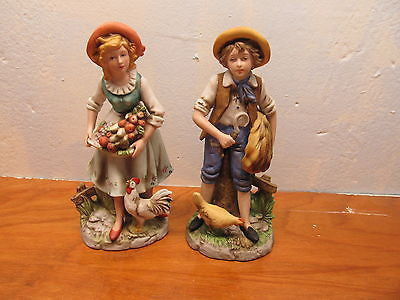 VINTAGE FRENCH COUNTRY COUPLE BY HOMCO - Andres James Vintage Boutique - 1