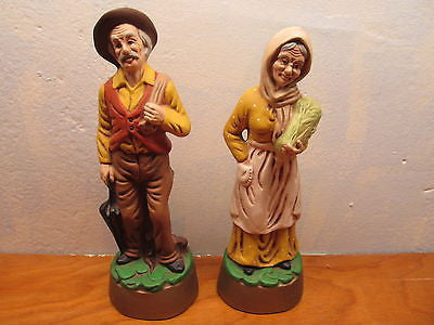 VINTAGE HANDMADE IN KANSAS FRENCH COUNTRY COUPLE CERAMIC - Andres James Vintage Boutique - 1