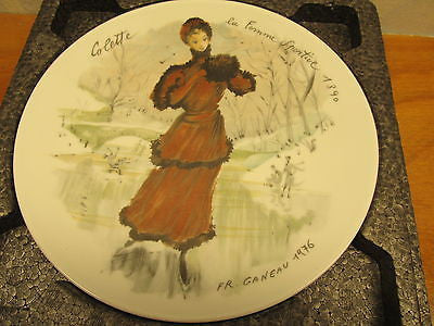 VINTAGE DECORATIVE PLATE BY LIMOGES LIMITED EDITION COLETTE BY GANEAU - Andres James Vintage Boutique - 2