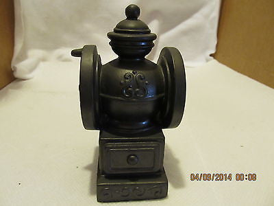 VINTGE BANTHRICO INC. COFFEE GRINDER BLACK METAL BANK MADE IN CHICAGO ILL. - Andres James Vintage Boutique - 1