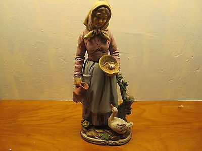 VINTAGE HOMCO FRENCH COUNTRY WOMAN - Andres James Vintage Boutique - 1