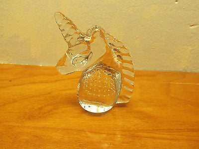 GLASS UNICORN PAPERWEIGHT - Andres James Vintage Boutique