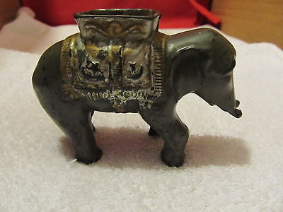 VINTAGE CAST IRON ELEPHANT BANK - Andres James Vintage Boutique - 1