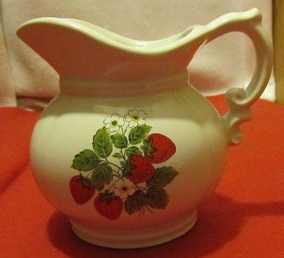 VINTAGE McCOY MILK PITCHER NUMBER 7528 - Andres James Vintage Boutique - 1