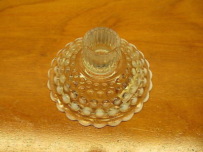 VINTAGE HOBNAIL OPALESCENT CANDLE HOLDER - Andres James Vintage Boutique - 2