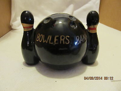 1960'S VINTAGE BOWLING PIN WITH BOWLING BALL BANK - Andres James Vintage Boutique