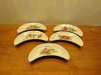 SET OF SIX VINTAGE BONE DISHES FINE CHINA - Andres James Vintage Boutique