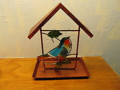 METAL BIRD FEEDER - Andres James Vintage Boutique