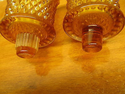 vintage small candle holder glass with out the holders a set - Andres James Vintage Boutique - 3