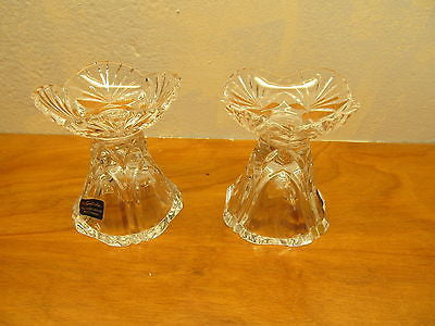 MADE IN WEST GERMANY CRYSTAL CANDLE HOLDERS - Andres James Vintage Boutique