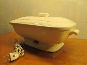 VINTAGE CHADWICK PORCELAIN HEATED SERVING DISH - Andres James Vintage Boutique - 1