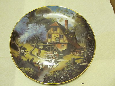 VINTAGE DECORATIVE PLATE BY ROBERT HENSEY - Andres James Vintage Boutique - 1