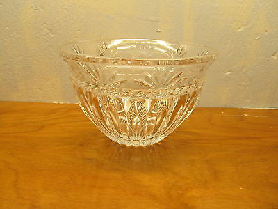 VINTAGE 24% LEAD CRYSTAL SERVING BOWL - Andres James Vintage Boutique - 1