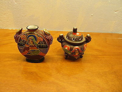 TWO MINIATURE MORIAGE CABINET VASES VINTAGE - Andres James Vintage Boutique - 1