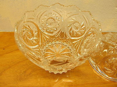 VINTAGE CRYSTAL CANDY DISH WITH SAW TOOTH EDGE AND LID - Andres James Vintage Boutique - 3