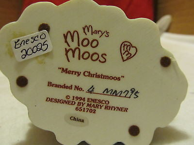 1994 ENESCO'S MARY'S MOO MOOS, MERRY CHRISTMOOS - Andres James Vintage Boutique