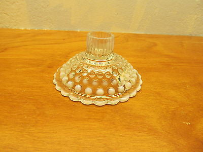 VINTAGE HOBNAIL OPALESCENT CANDLE HOLDER - Andres James Vintage Boutique - 1
