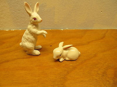 VINTAGE LEFTON AND ENSCO MINIATURE RABBIT FIGURINES - Andres James Vintage Boutique - 2
