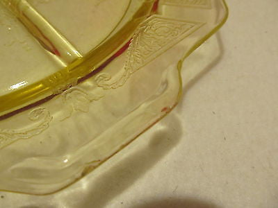 TWO VINTAGE YELLOW ANCHOR HOCKING PRINCESS SERVING DISHES WITH HANDLES - Andres James Vintage Boutique - 6