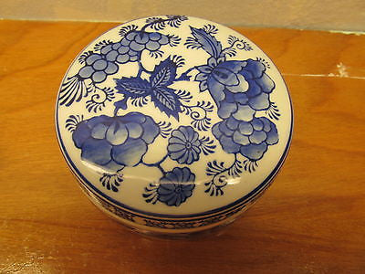 BEAUTIFUL FLO BLUE TRINKET BOX - Andres James Vintage Boutique