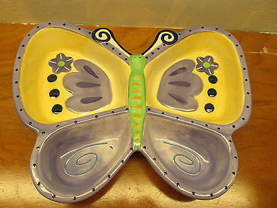 BUTTERFLY SHAPED CHIP AND DIP BOWL. - Andres James Vintage Boutique