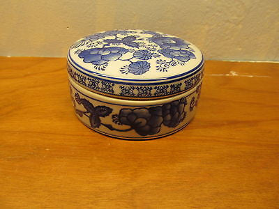 FLO BLUE TRINKET BOX - Andres James Vintage Boutique