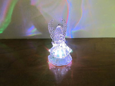 SMALL LIGHT UP ANGEL TREE ORNAMENT - Andres James Vintage Boutique - 5
