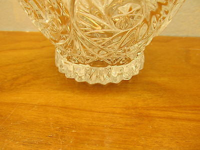VINTAGE CRYSTAL CANDY DISH WITH SAW TOOTH EDGE AND LID - Andres James Vintage Boutique - 5