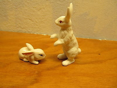 VINTAGE LEFTON AND ENSCO MINIATURE RABBIT FIGURINES - Andres James Vintage Boutique - 1