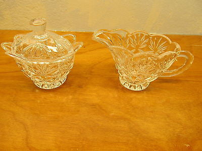 VINTAGE CRYSTAL SUGAR AND CREAMER - Andres James Vintage Boutique - 1