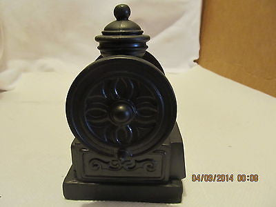 VINTGE BANTHRICO INC. COFFEE GRINDER BLACK METAL BANK MADE IN CHICAGO ILL. - Andres James Vintage Boutique - 4