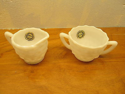 VINTAGE HAZEL-ATLAS CREAMER AND SUGAR SET - Andres James Vintage Boutique - 1