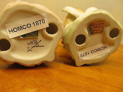 A SET OF TWO HOMCO PORCELAIN ANGELS PLAYING MUSICAL INSTRUMENTS - Andres James Vintage Boutique