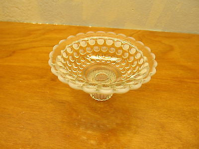 VINTAGE HOBNAIL OPALESCENT CANDLE HOLDER - Andres James Vintage Boutique - 3