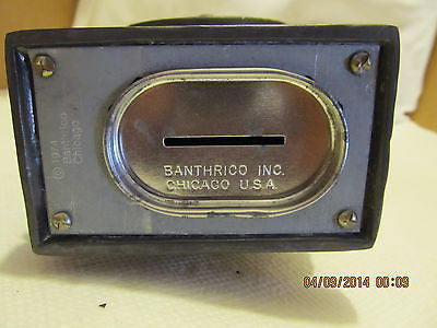 VINTGE BANTHRICO INC. COFFEE GRINDER BLACK METAL BANK MADE IN CHICAGO ILL. - Andres James Vintage Boutique - 5