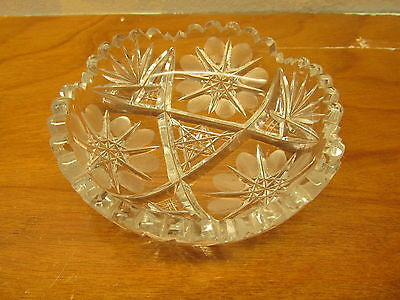 VINTAGE LEAD CRYSTAL CANDY DISH - Andres James Vintage Boutique - 1