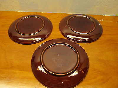 SET OF 3 VINTAGE McCOY SMALL SALAD PLATES - Andres James Vintage Boutique