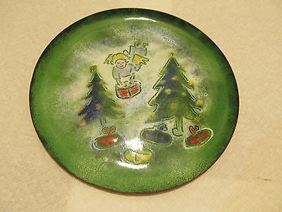 DECORATIVE METAL HOLIDAY PLATE - Andres James Vintage Boutique