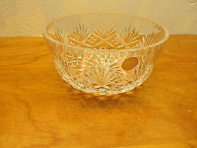 MADE IN POLAND 24% LEAD CRYSTAL SERVING BOWL - Andres James Vintage Boutique