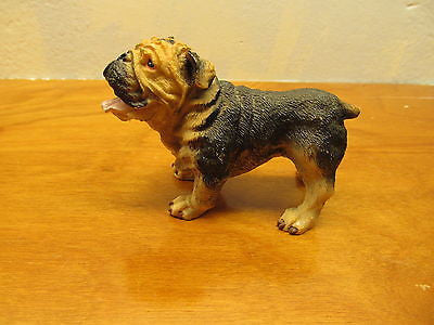 BLACK AND TAN BULLDOG FIGURINE - Andres James Vintage Boutique