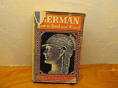 HOW TO SPEAK GERMAN BY AUTHOR JOSEPH ROSENBERG - Andres James Vintage Boutique