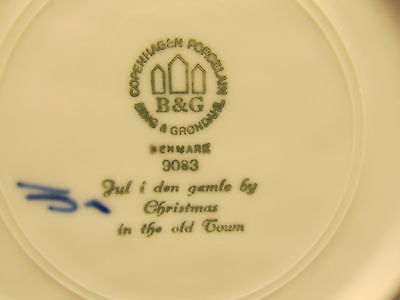 BING AND GRONDHAL THE OLD TOWN CHRISTMAS PLATE 1980 # 9083 - Andres James Vintage Boutique