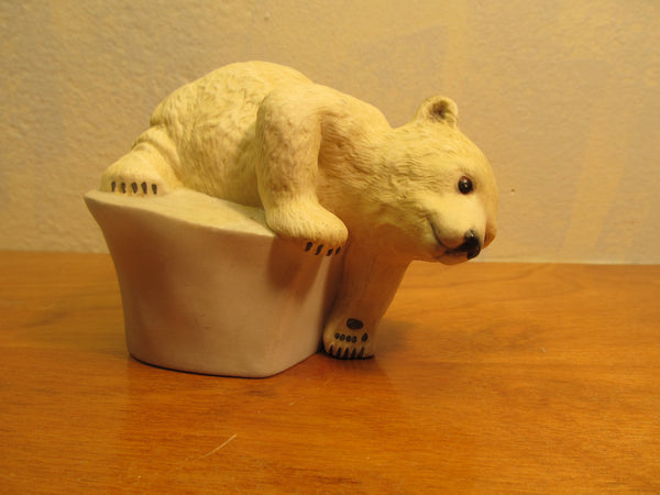 Porcelain Polar Bear Figurine