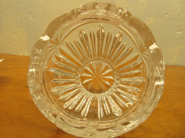 VINTAGE FENTON CRYSTAL DISH WITH ROSE PATTERN - Andres James Vintage Boutique - 2