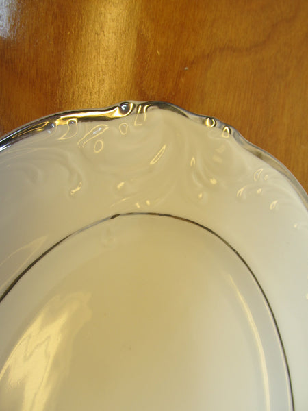 MADE IN POLAND BY WALBRZYCH CHINA OVAL SERVING PLATTTER - Andres James Vintage Boutique