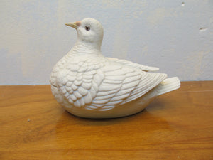 VINTAGE CERAMIC DOVE TRINKET BOX  ANDREA MADE BY SADEK IN JAPAN # 8078 - Andres James Vintage Boutique - 1