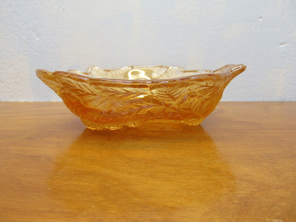 VINTAGE FENTON AMBER BERRY BOWL - Andres James Vintage Boutique - 2