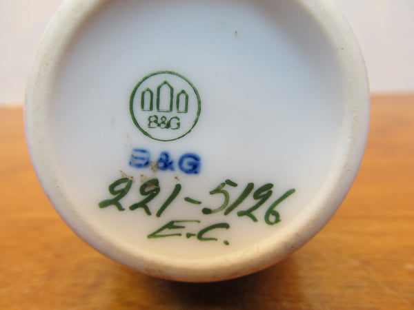 SMALL VINTAGE SIGNED CHINA VASE # 221-5126 e.c. FROM B&G COMPANY - Andres James Vintage Boutique - 4